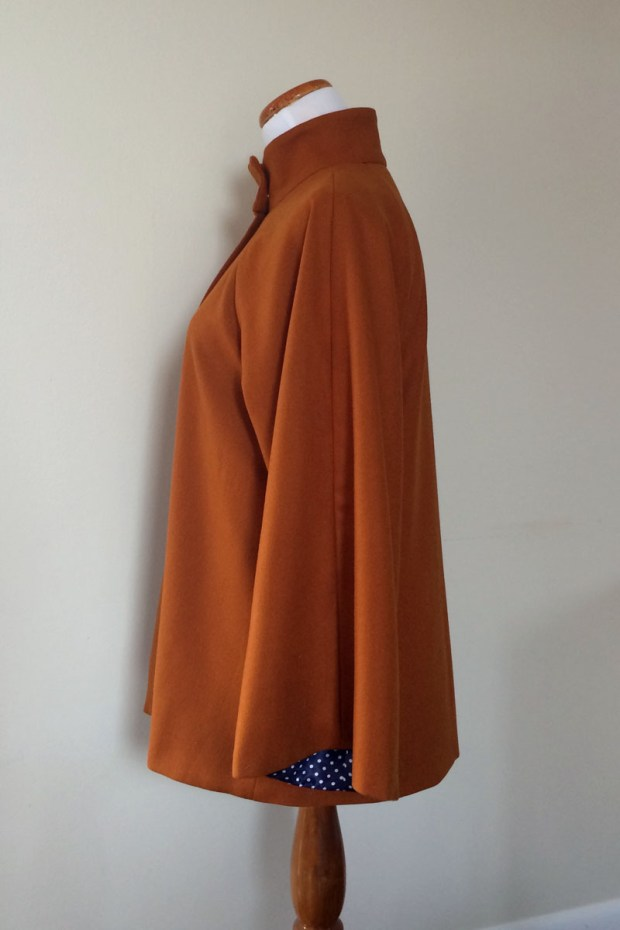 Orange Jacket with polka dot lining