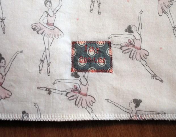 tiny dancer burp cloths