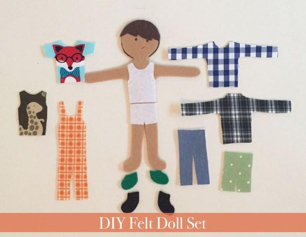 boy felt dolls