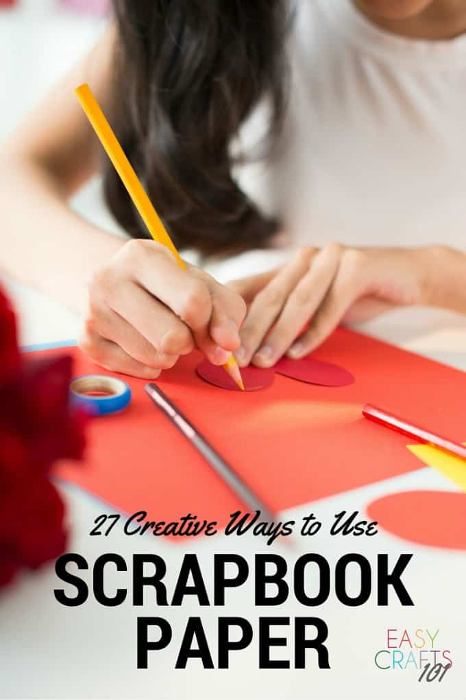 Easy Craft Ideas Using Scrapbook Paper Easy Crafts 101