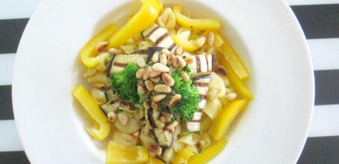pasta met aubergine