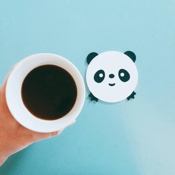 panda onderzetter