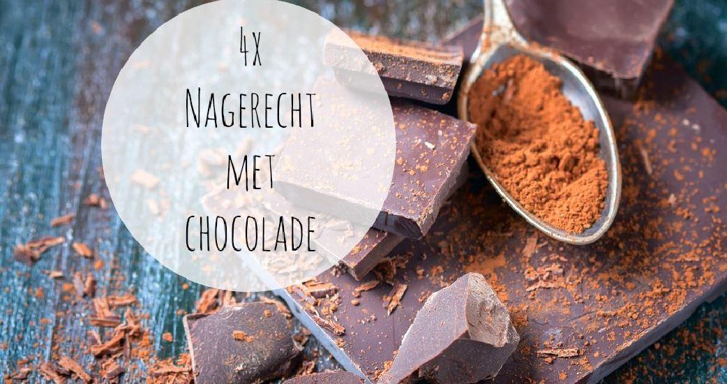 nagerecht met chocolade