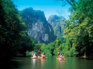 Bamboo Rafting Down River - Khao Sok Tours