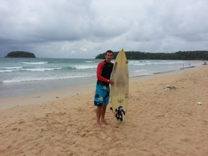 Surfer Enrico at Kata Beach