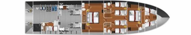 MY Victory lower deck layout
