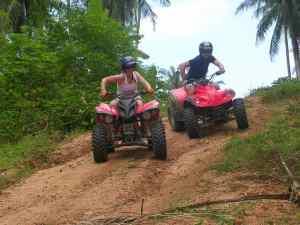 Quad fahren auf Koh Samui gebucht mit Easy Day Samui