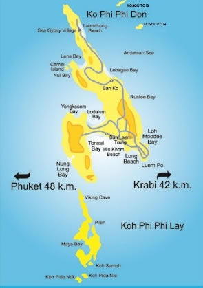 Phi Phi Island Map