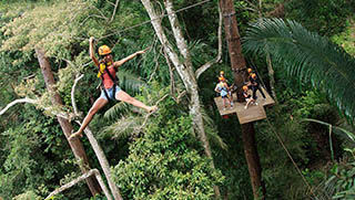 Phuket Activities - Ziplining & Flying Fox Jungle Adventure