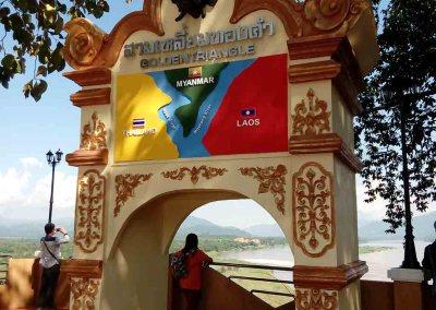 chiang rai,golden triangle-stone gate