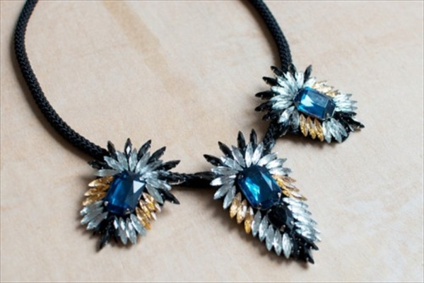 Crystal flare necklace makeover