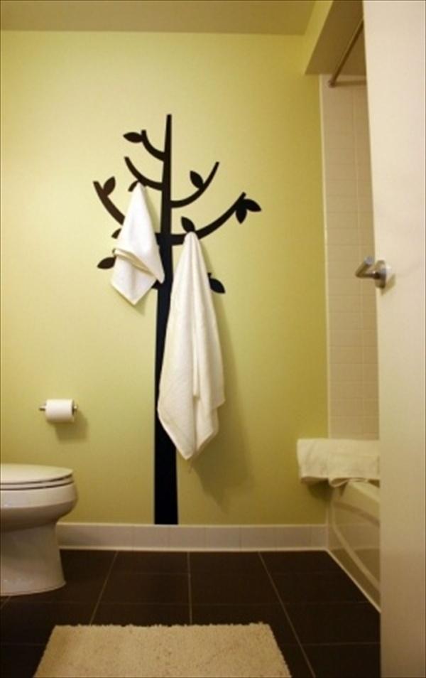 DIY Towel Storage shelves