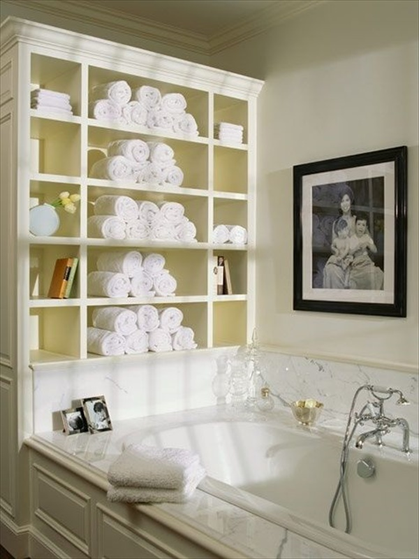Cool DIY idea for towel storage
