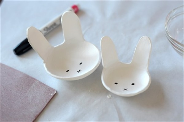 Cool Homemade Clay Bunny bowl