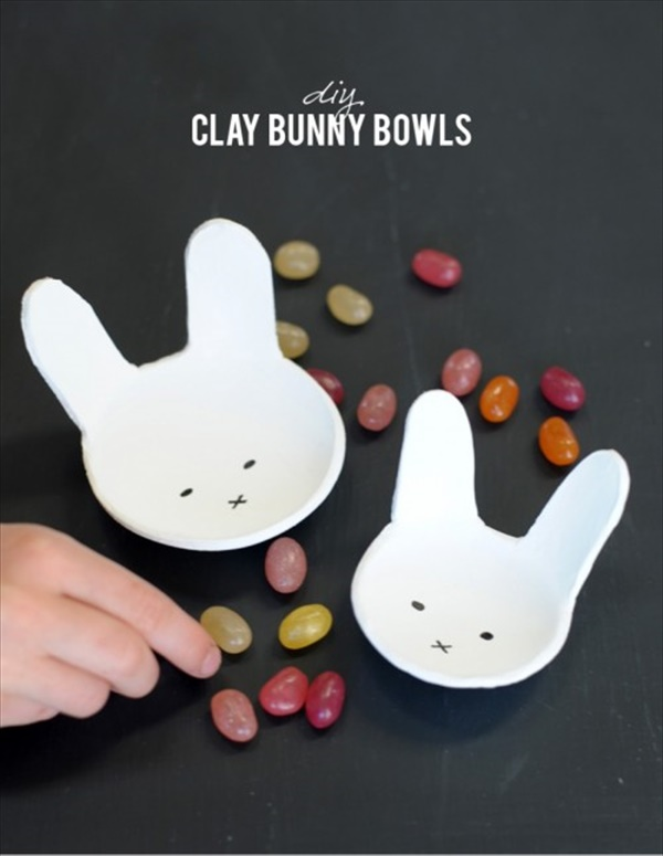 How to make clay bunny bowl for Easter