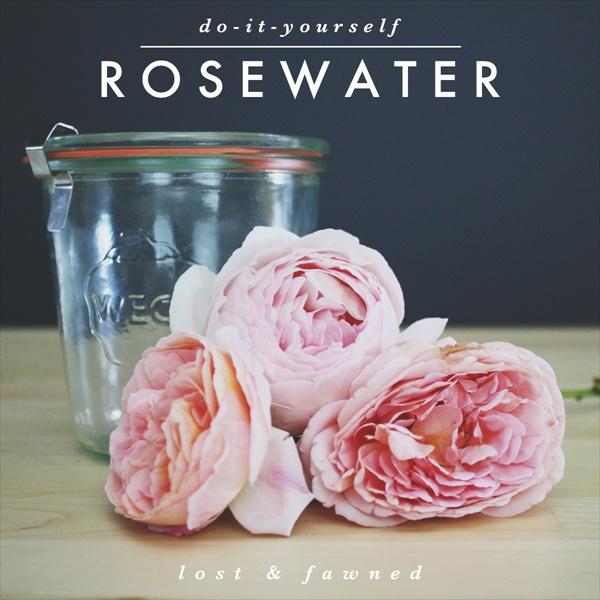 Easy DIY rosewater