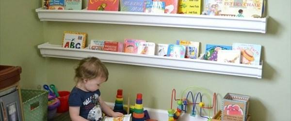 Stylish DIY book shelves