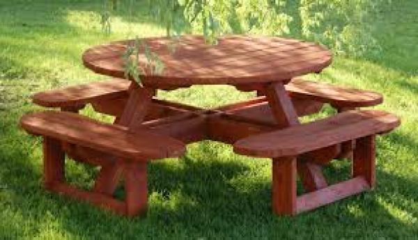DIY picnic grill table
