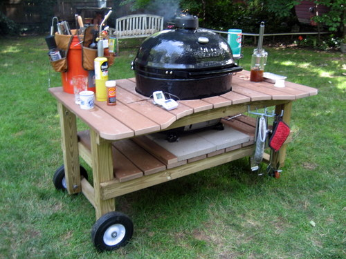 DIY outdoor grill table ideas