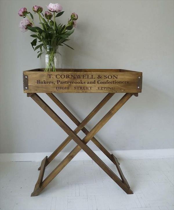 DIY wooden Repurposed Tray table