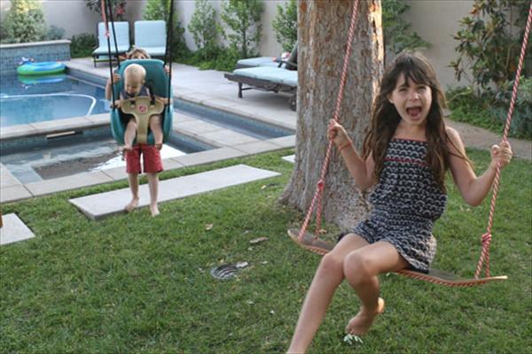 DIY Baby outdoor swing seat