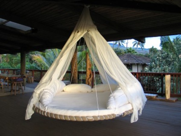 kids hanging bed ideas