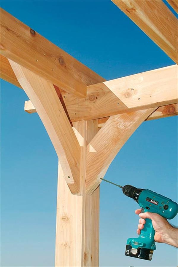DIY building a pergola over patio