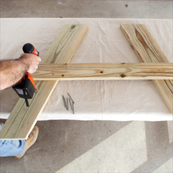 DIY picnic table tutorial