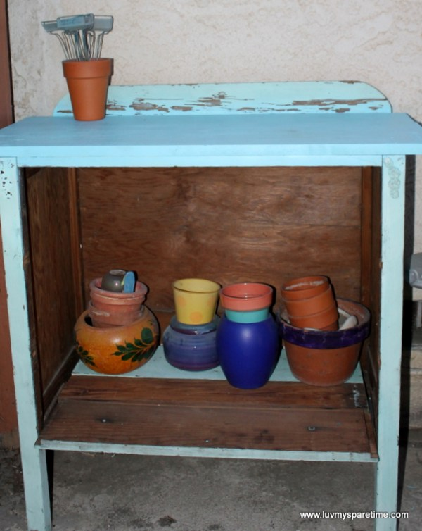Using potting bench at home