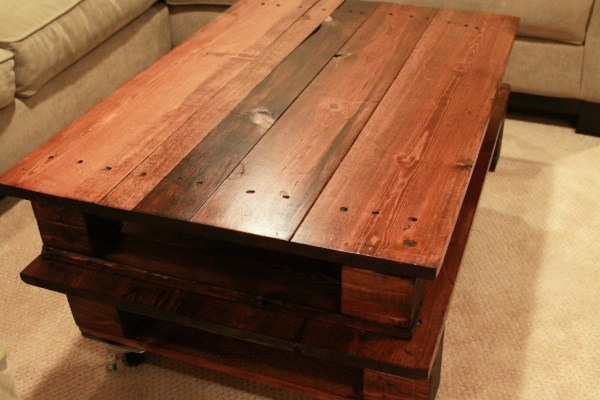 DIY wooden table project