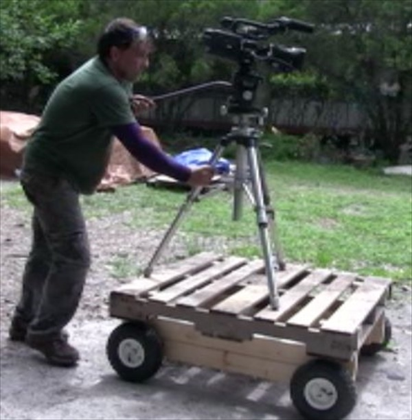 DIY hand pull cart with wheels