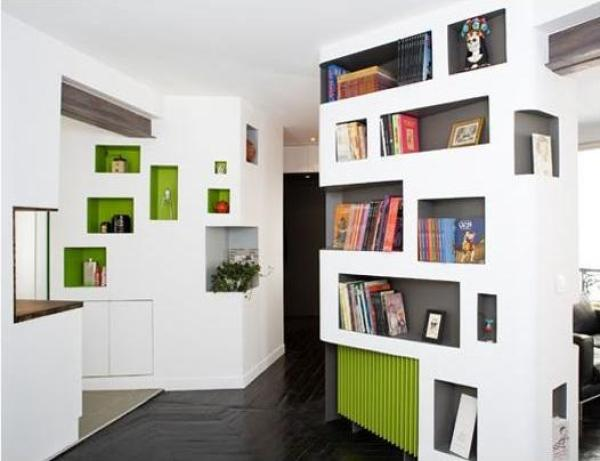 DIY cool bookshelves