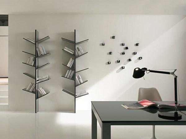 DIY modern bookshelves