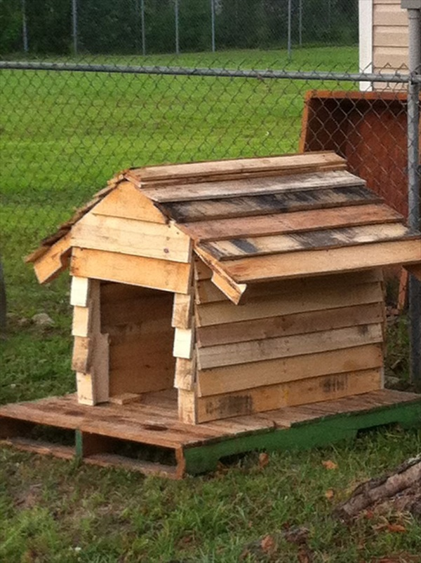 DIY pallet dog house