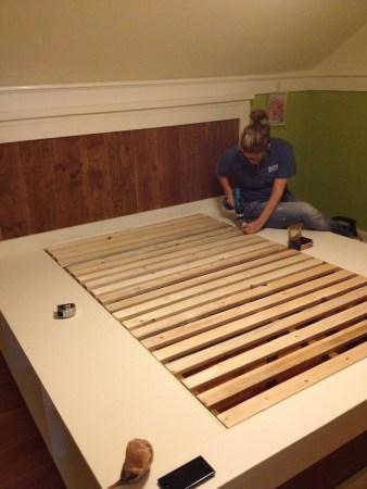 DIY storage bed ideas