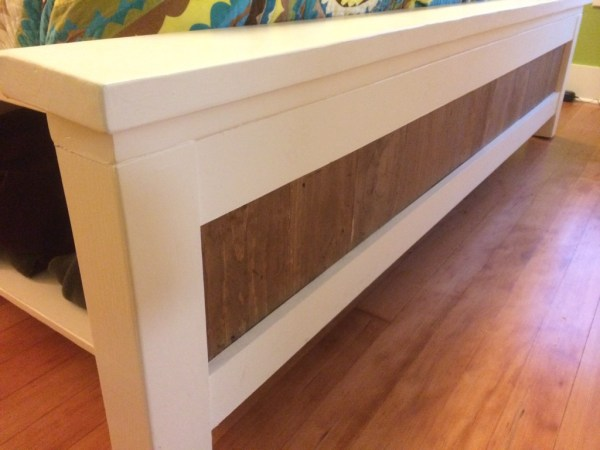 DIY Storage king size bed