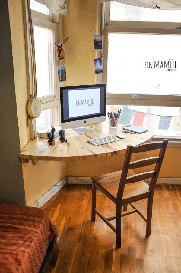 how to build a wood desk