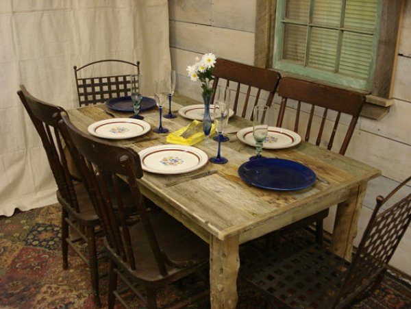 how to make a dining table from pallets
