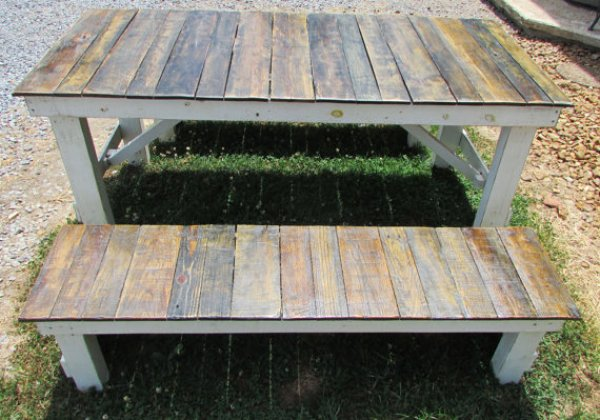 build your own pallet table