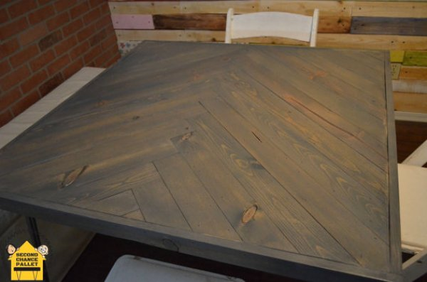 dining table build from reclaimed wood