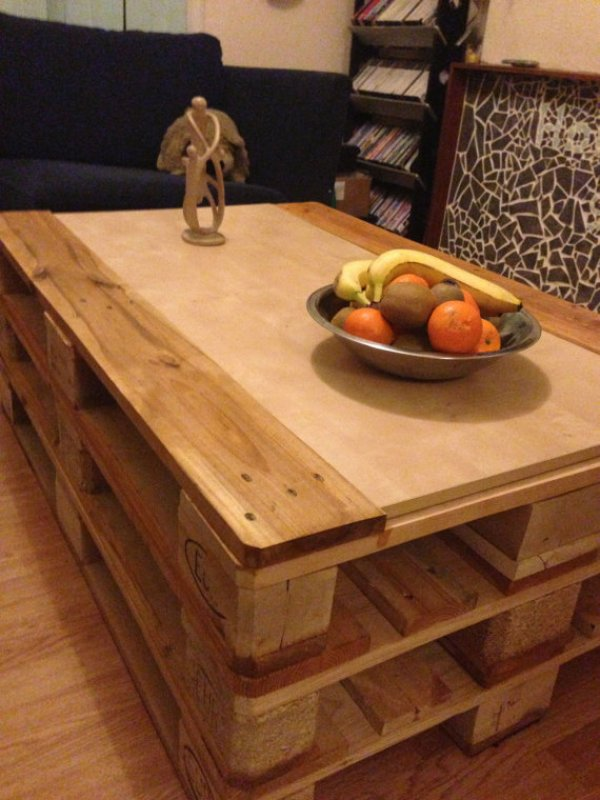 cheap diy pallet coffee table