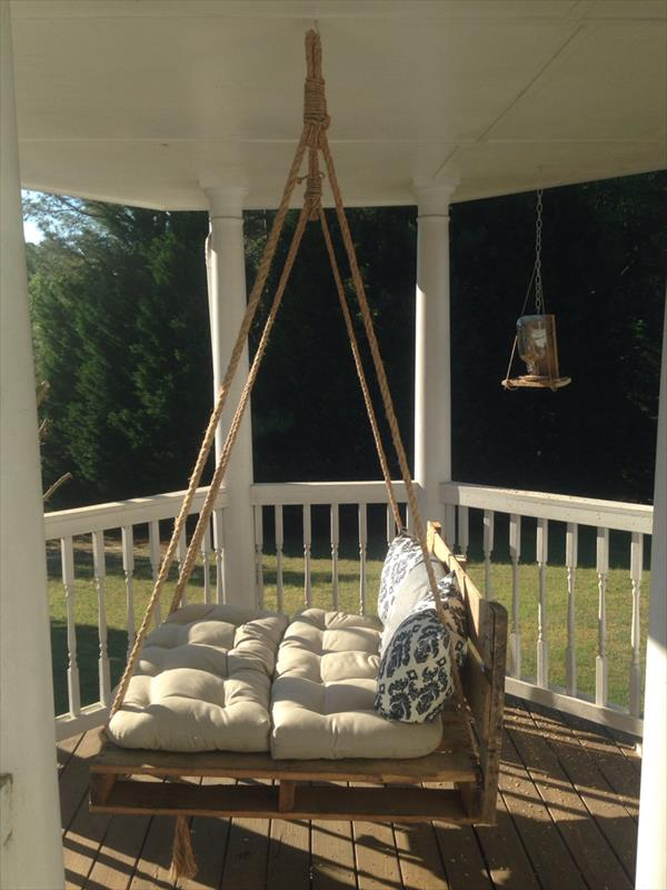 pallet swing out of wooden pallets