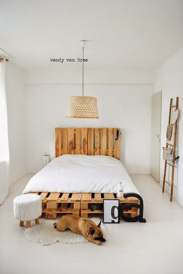 DIY pallet bed instruction