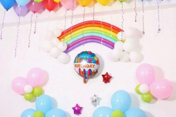 DIY Bday Rainbow