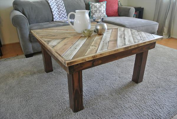 Chevron style Coffee Table