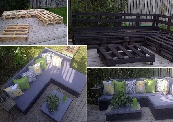 DIY pallet of wood