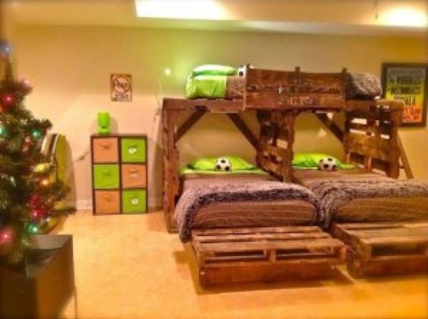 DIY Triple Bed