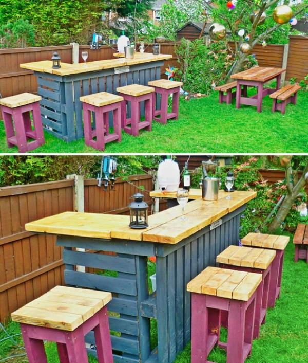 building Garden Pallet Bar