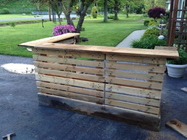 DIY Pallet Bar plans