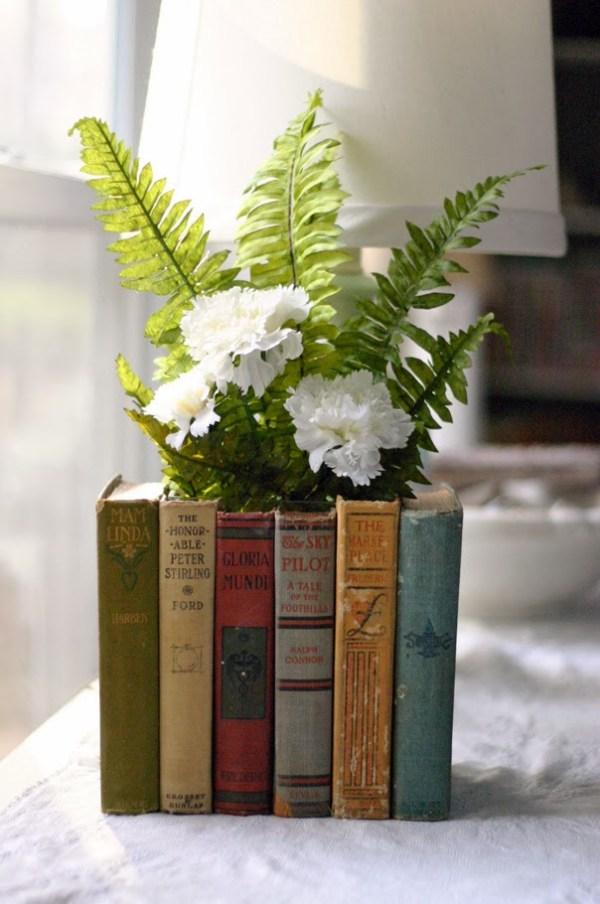 DIY Book Flowerpot
